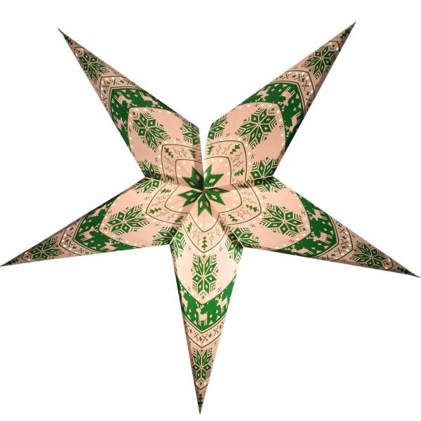Papierstern Mit Beleuchtung | Weihnachtsstern 60cm Papier Stern Weihnachtsdeko Ws001