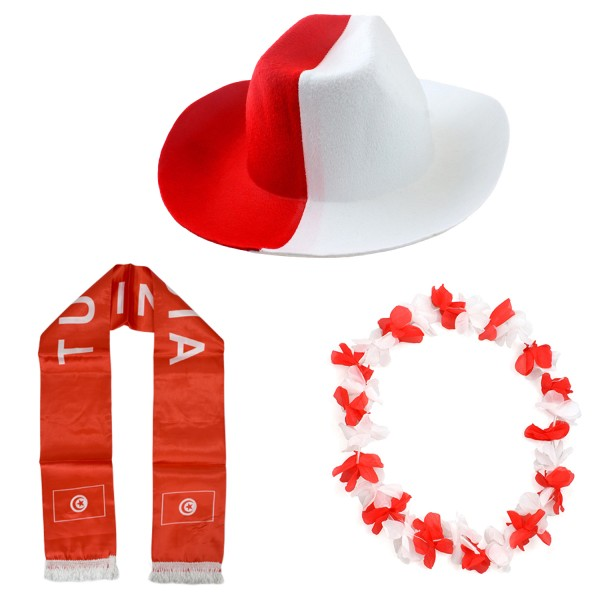 """Fan Package """"Tunesia"""" Worldcup Football Soccer Cheer Party SET-1"""