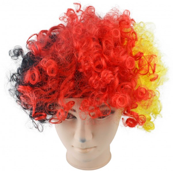 "Wig ""Short Hair Curl"" Headgear World Cup Fan Party Carneval"