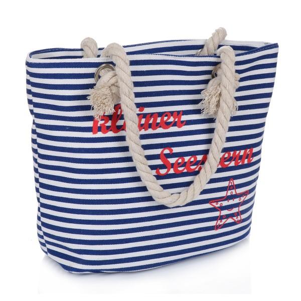 "XS Shopper ""Little Sea Star"" Bag Maritime Stripes"