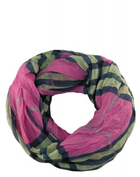"""Scarf Loop """"Checked"""" Stripes Summer"""