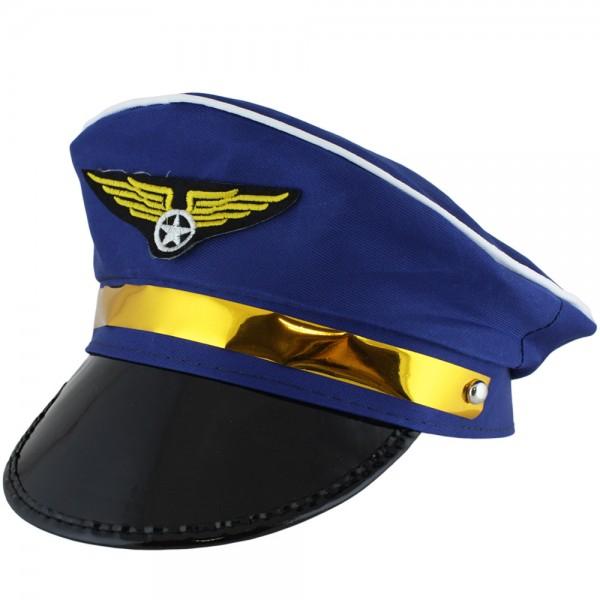 """Hut """"Pilot"""" Steward Kostüm Fasching Flugzeug Karneval"""