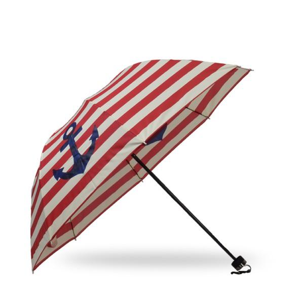 "Pocket Umbrella ""Maritim"" Anchor Stripes Rain Protection"
