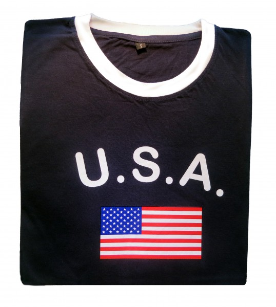 "Fan-Shirt ""USA"" Unisex Fußball WM EM Herren T-Shirt"