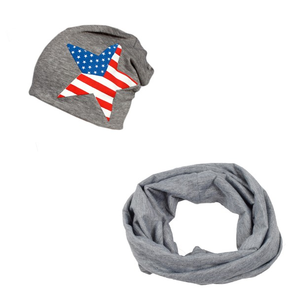 "SET Loop and Beanie ""USA Star"" America Summer"