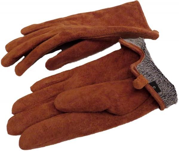 Damenhandschuhe Leder Schmal Winter Finger Gefüttert