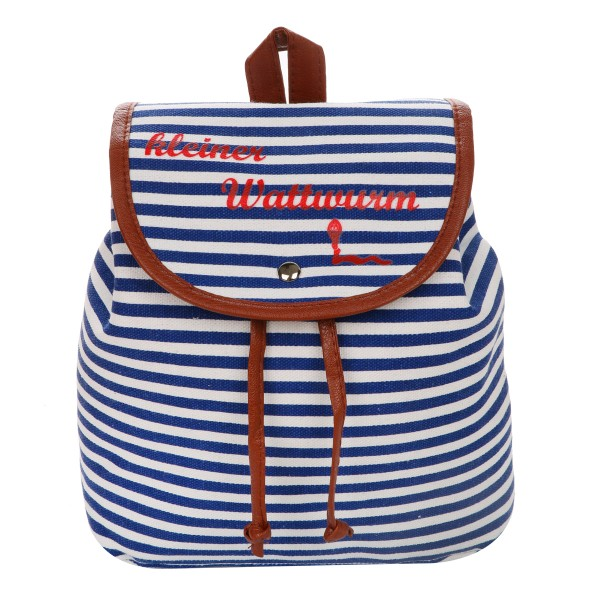 "XS Backpack ""Little Rock Worm"" Stripes Maritim Daypack"