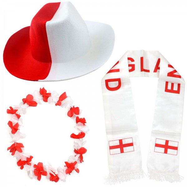 """Fan Package """"England"""" Worldcup Football Soccer Cheer Party SET-1"""