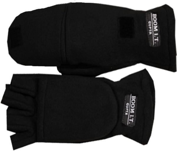 Fleece Gloves Halffinger Foldover Winter