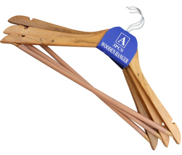 3er SET Kleiderbügel Holz Bügel Kleiderschrank Aufhänger