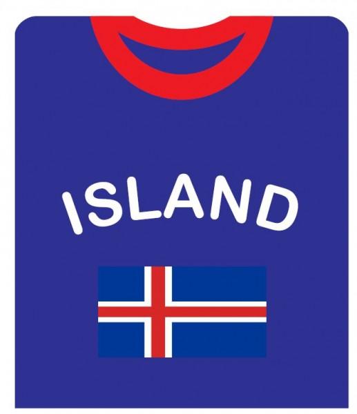 """Fan-Shirt """"Island"""" Unisex Football Worldcup T-Shirt Men"""