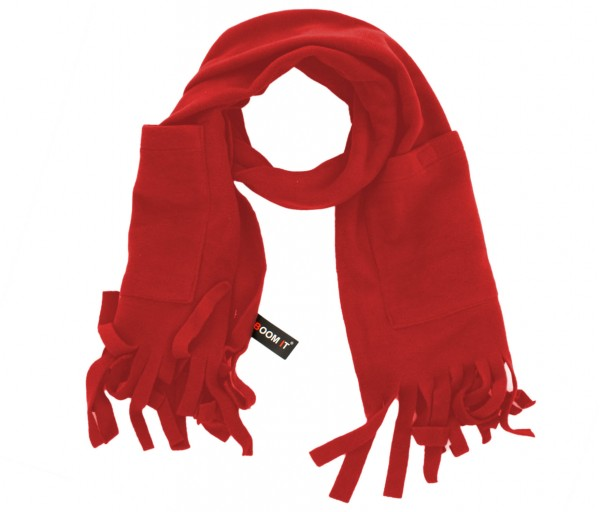 Scarf Fleece Pockets Fringes Winter