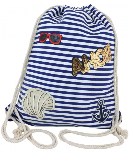 "Patch Backpack ""Ahoi!"" Bag Patches"