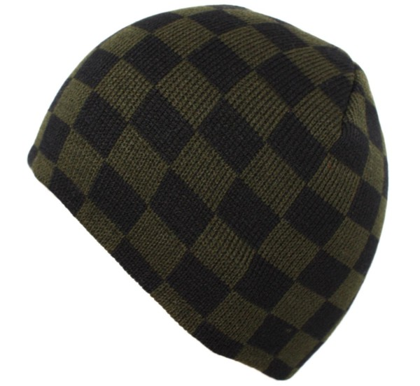 "Knitted Cap ""Check"" Winter Hat Unisex"