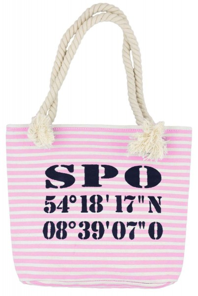 "XS Shopper ""St. Peter Ording"" Shopper Tasche Koordinaten"