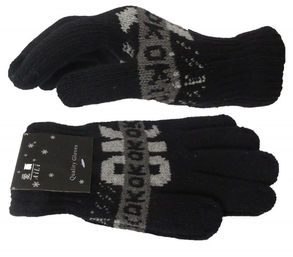 Knitted Gloves Statement OK Winter Unisex