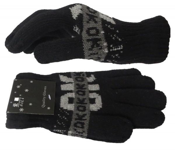 Strickhandschuhe Finger Winter OK Statement Unisex