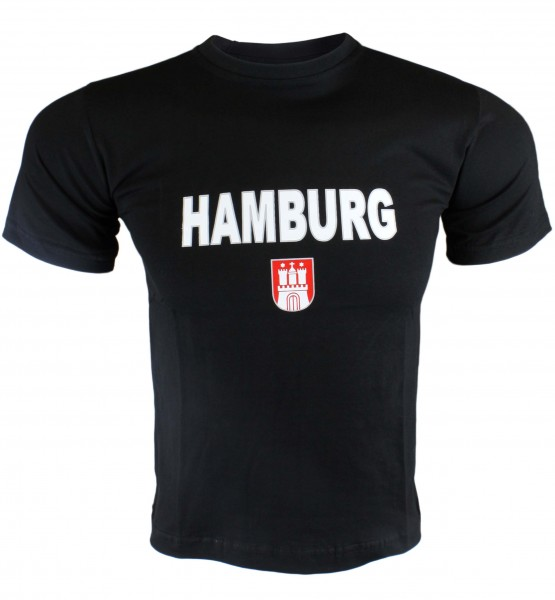 "T-Shirt Gents ""Hamburg Classic"" Emblem Cotton"
