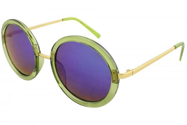 Sun Glasses Mirrored Women Trend Round Summer Eyewear