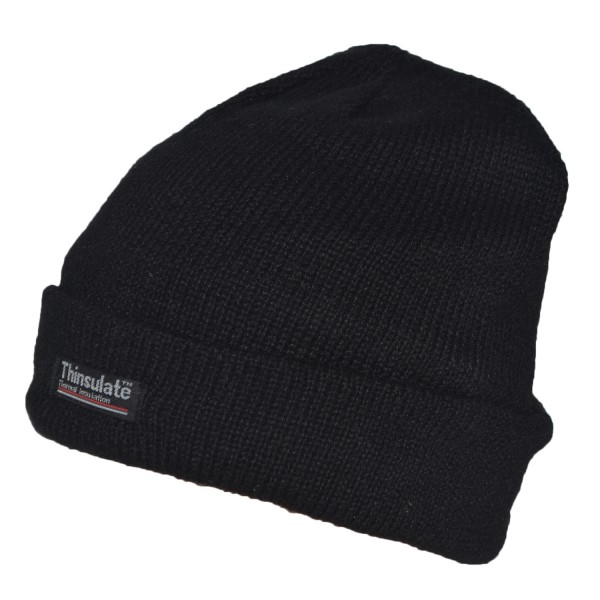 "Knitted hat ""Fleece"" Black Fleece Warm"