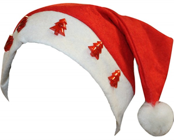 "Christmas Hat ""Fir Tree"" Blinking Light Cap Santa"