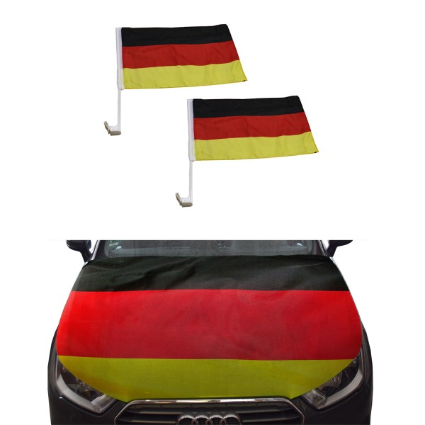 """Fan-Package """"Car"""" Worldcup Countries Football Flags Bannet SET-10"""