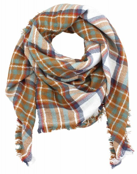 Scarf Polyacrylic Plaid XXL Winter Blogger Soft