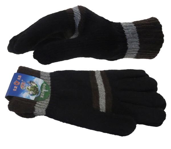 Strickhandschuhe Herren Finger Winter Streifen Unisex