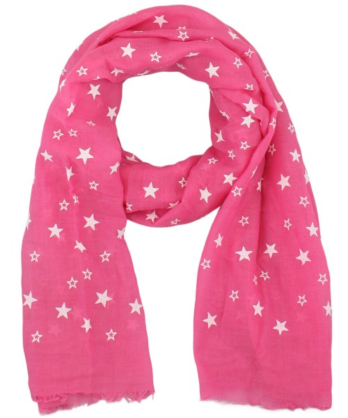 "Scarf Long ""Stars"" High Print Fringes Summer"