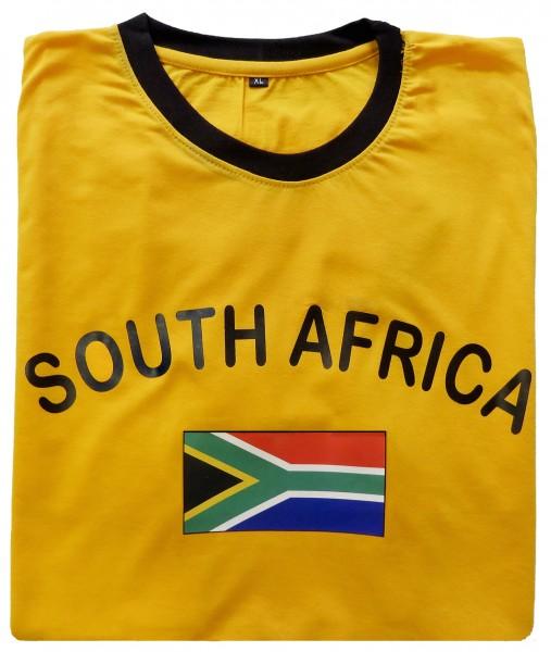 """Fan-Shirt """"South Africa"""" Unisex Fußball WM EM Herren T-Shirt"""