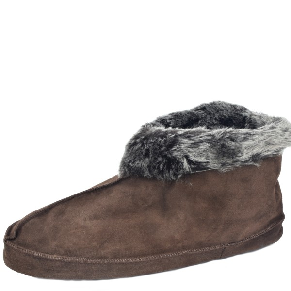 "Indoor Slipper ""Homelove"" Real Sheep Skin Genuine Leather Lamb Fur"