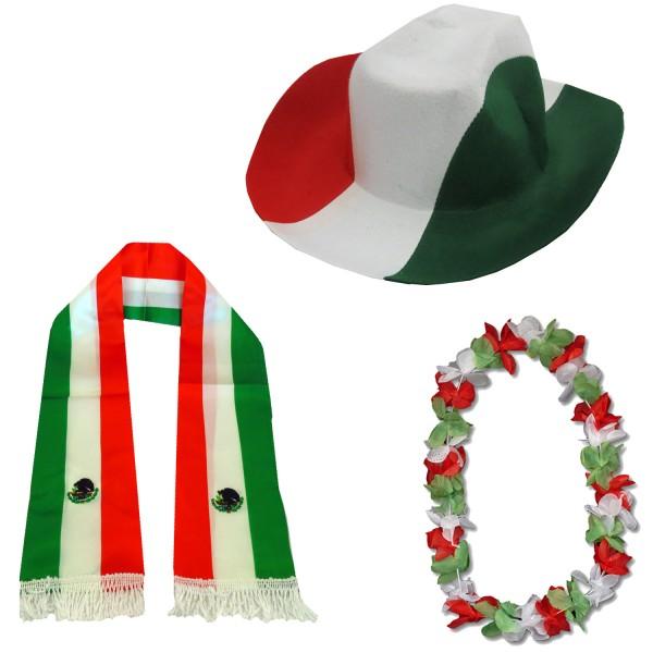 """Fan-Paket-1 """"Mexiko"""" WM EM Fußball Fan Anfeuern Party"""