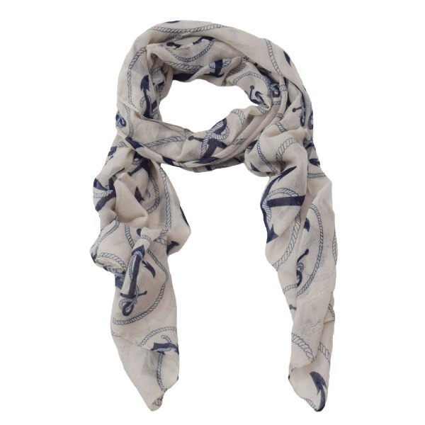 "Scarf Long ""Anchor With Rope"" Summer"