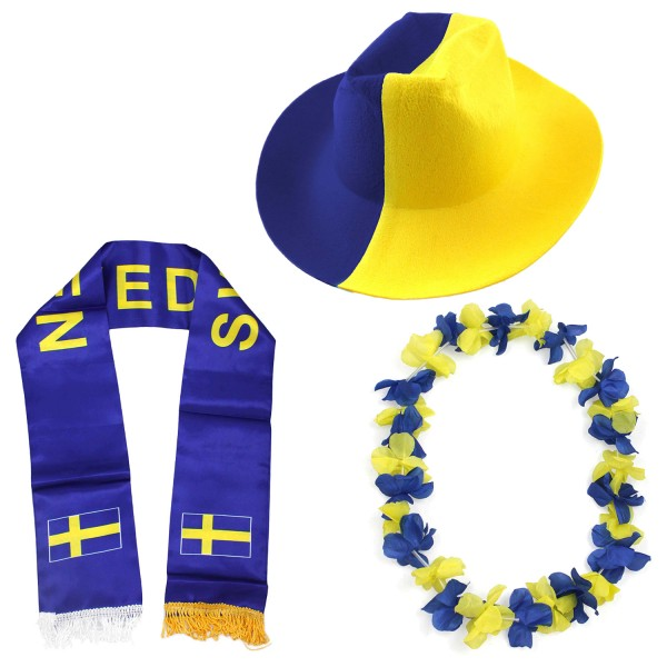 """Fan Package """"Sweden"""" Worldcup Football Soccer Cheer Party SET-1"""