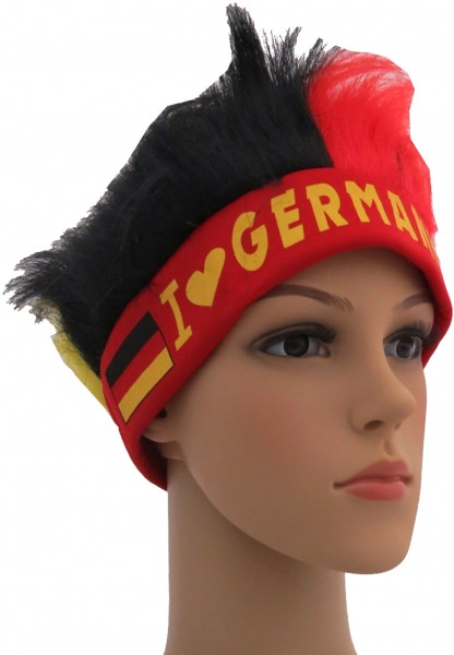 """Fan Stirnband Haare """"I Love Germany"""" WM Fußball Party"""