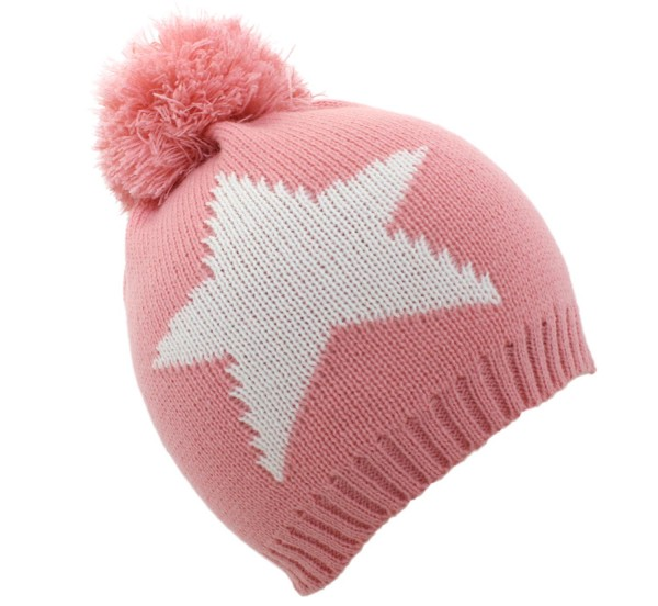 "Bobble hat ""Star"" Winter Hat Uni"