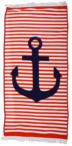 """Beach Towel """"Beach Club"""" Handtowel Stripes Anchor"""