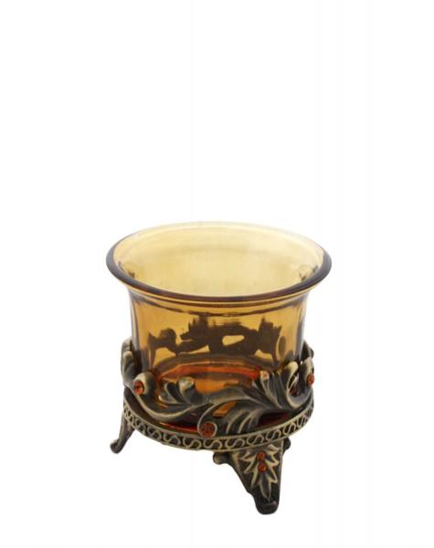 2er Stück Kerzenhalter Wohnen Deko Kerze Glas