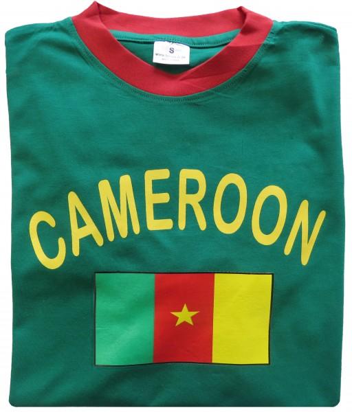 """Fan-Shirt """"Cameroon"""" Unisex Fußball WM EM Herren T-Shirt"""