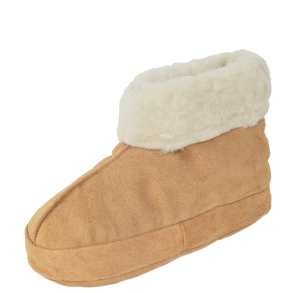 """Indoor Slipper """"Ice Flower"""" Real Leather Wool Lining Cozy Soft"""