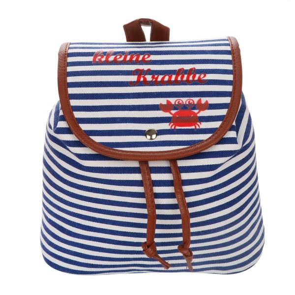 "XS Backpack ""Little Crab"" Stripes Maritim Daypack"