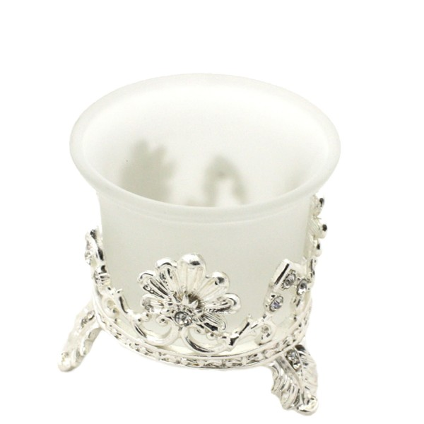 "2 Pieces Tea Candle ""Silber Winzling"" Decoration Present"
