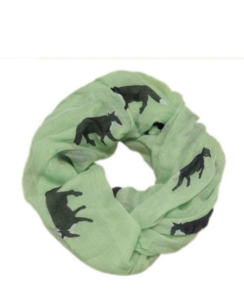 """Scarf Loop """"Wolf Two Colors"""" Round Shawl Summer"""