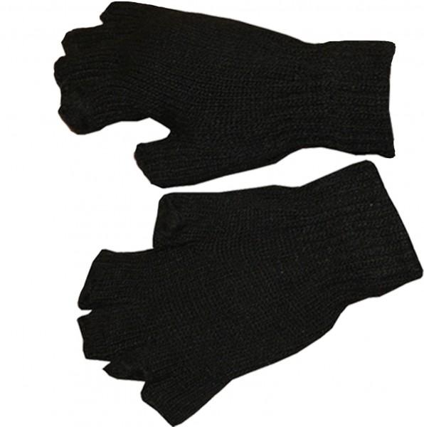 Strickhandschuhe Fingerhandschuhe Strick Halbfinger Einfarbig Winter