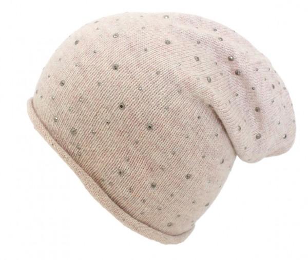 """Knit Beanie """"Rivets"""" Wool Knitbeanie Premium"""