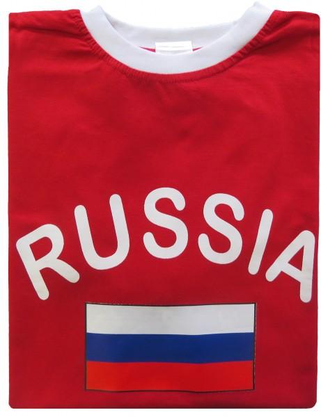"""Fan-Shirt """"Russia"""" Unisex Fußball WM EM Herren T-Shirt"""