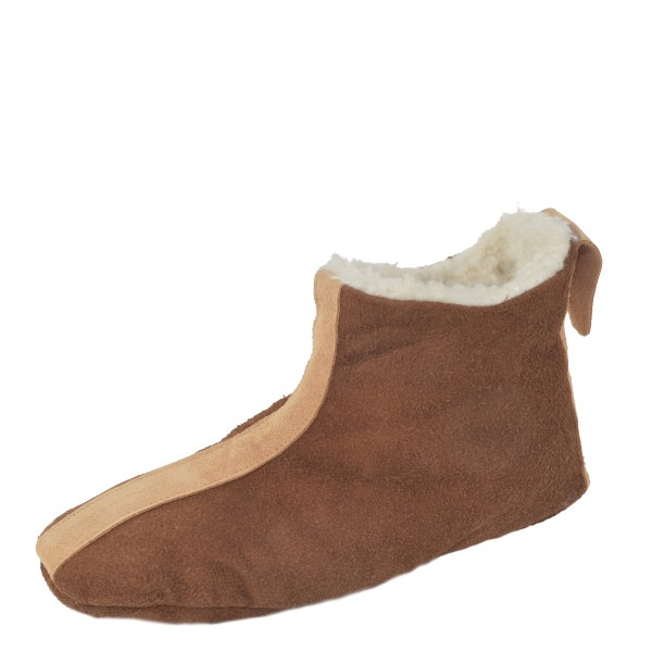 "Indoor Slipper ""Indianer"" Real Leather Faux Fur Lining Cozy Soft"